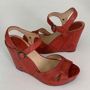 FRYE Corrina Campus Wedge Ankle Strap Sandal 9